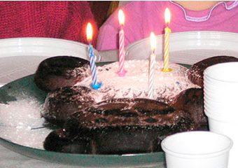 gâteau d'anniversaire à la ferme du doux riez de l'Authie