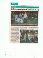 article de presse Le Journal de Montreuil sur la ferme pédagogique du doux riez de l'Authie