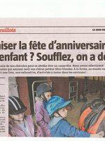 article de presse La Voix du Nord sur le goûter anniversaire à la ferme pédagogique du doux riez de l'Authie