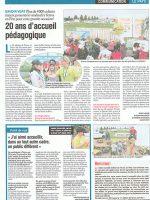 article de presse Le Syndicat Agricole sur la ferme pédagogique du doux riez de l'Authie
