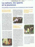 article de presse Communauté de Communes de l'Hesdinois sur la ferme pédagogique Doux Riez de l'Authie